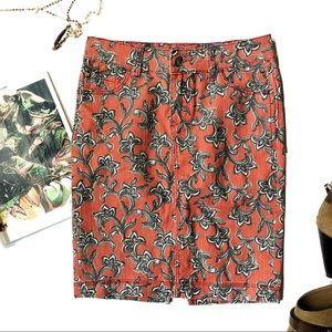 [Anthropologie] Pilcro Denim and Paisley Skirt
